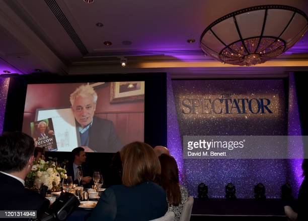 John Bercow wins the Insurgent of the Year Award at The Spectator Parliamentarian Of The Year Awards at Rosewood London on January 22, 2020 in...