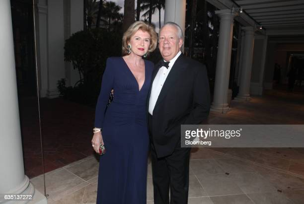 John Bernbach and Violain Bernbach stand for a photograph at the Breakers Hotel in Palm Beach Florida US on Saturday Feb 11 2017 There were camels in...