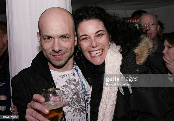 John Bernstein of Disney DVD productions and Sundance Shorts Film Programmer Hebe Tabachnick attend the Wold Cinema Filmmakers Welcome at the Stella...