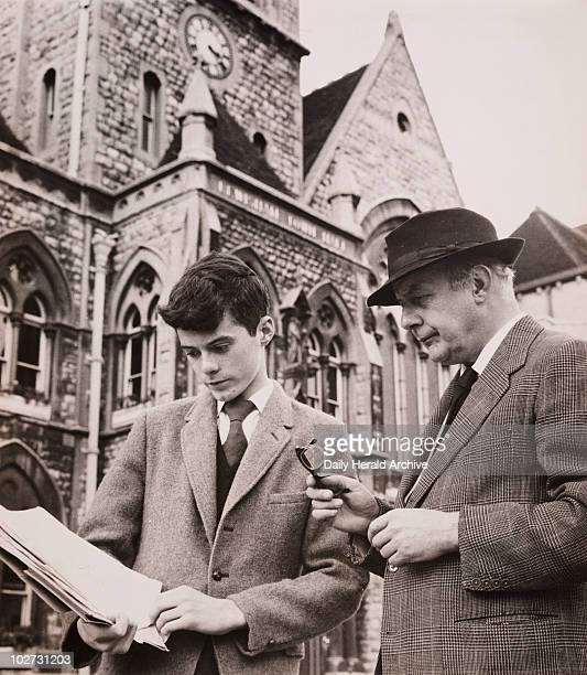 John Betjeman with William Horton Lewisham Town Hall 23 August 1961 William Horton who campaigned to save Lewisham Town Hall shows British poet John...