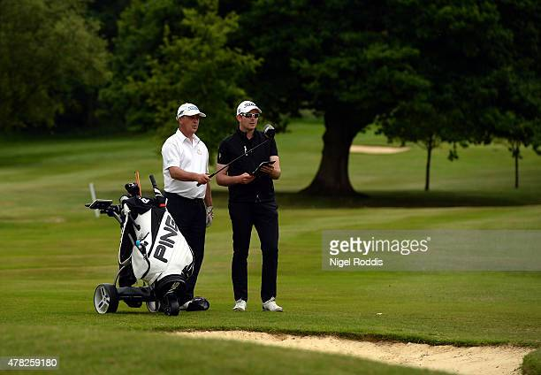 John Bevan and Michael Jones during the Golfbreakscom PGA Fourball Championship North Qualifier at Woodsome Hall Golf Course on June 24 2015 in...