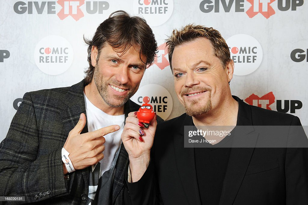 John Bishop and Eddie Izzard attend 'Give It Up For Comic Relief' at Wembley Arena on March 6, 2013 in London, England.