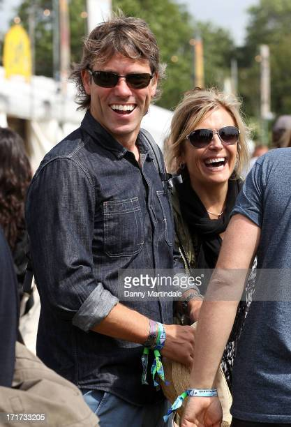 John Bishop and Melanie Bishop attend day 2 of the 2013 Glastonbury Festival at Worthy Farm on June 28 2013 in Glastonbury England