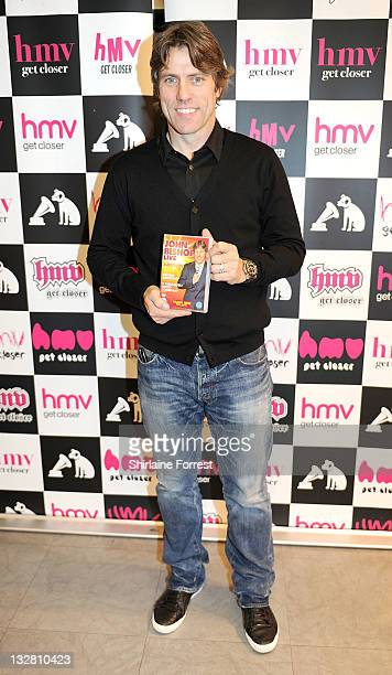 John Bishop meets fans and signs copies of 'John Bishop Live The Sunshine Tour' at HMV on November 14 2011 in Liverpool England
