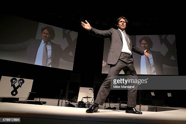 John Bishop on the catwalk during One For The Boys Fashion Ball hosted by Samuel L Jackson uniting men against cancer to kick start London...