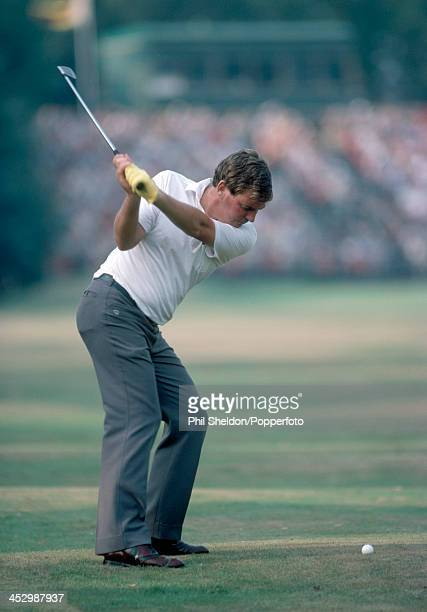 John Bland of South Africa in action during the Benson and Hedges International Open Golf Tournament held at the Fulford Golf Club in York circa...