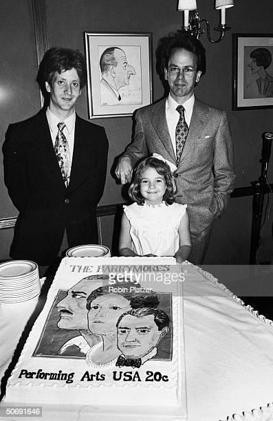 John Blyth Barrymore son of John Drew Barrymore w halfsister child actress Drew Barrymore cousin John Miglietter celebrating Barrymore commemorative...