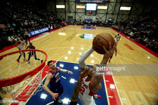 John Bohannon of the Maine Red Claws dunks the ball against the Grand Rapids Drive at The DeltaPlex Arena for the NBA GLeague on January 05 2019 in...