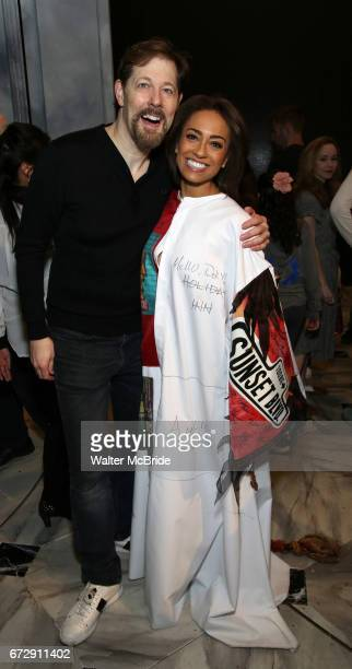 John Bolton and Shina Ann Morris during the Actors' Equity Broadway Opening Night Gypsy Robe Ceremony honoring Shina Ann Morris for 'Anastasia' at...