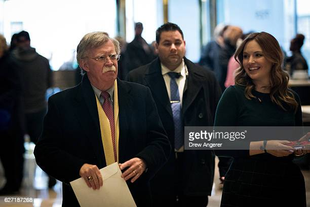 John Bolton former United States Ambassador to the United Nations arrives at Trump Tower December 2 2016 in New York City Presidentelect Donald Trump...