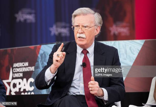 John Bolton Former United States Ambassador to the United Nations at the Conservative Political Action Conference sponsored by the American...
