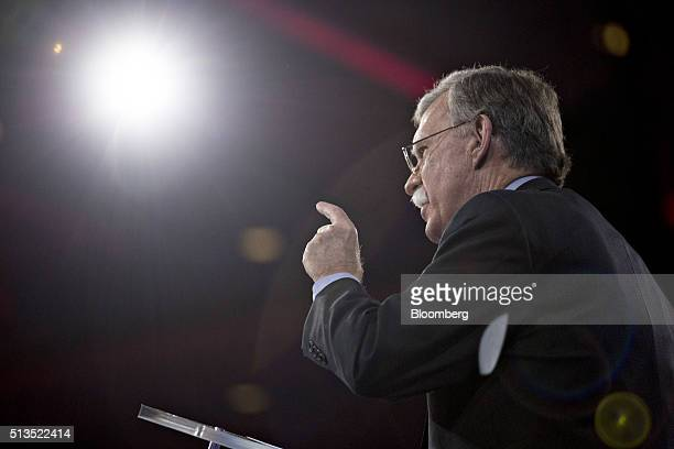 John Bolton former US ambassador to the United Nations speaks during the American Conservative Unions Conservative Political Action Conference...