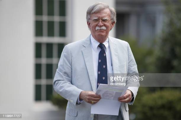 John Bolton national security adviser pauses outside the White House in Washington DC US on Wednesday July 31 2019 The White House today announced...