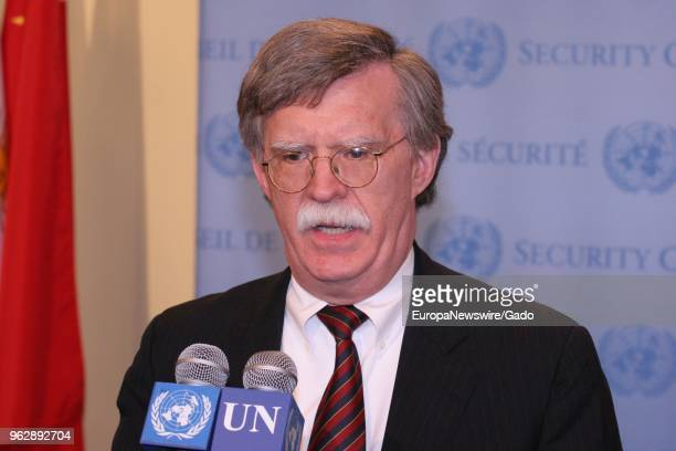 John Bolton Permanent Representative of the United States of America to the United Nations at the UN Headquarters in New York City New York May 9 2006