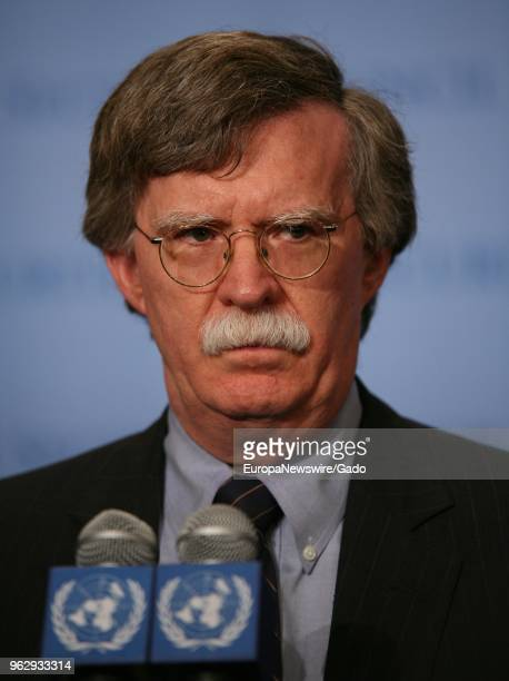 John Bolton Permanent Representative of the United States of America to the United Nations at the UN Headquarters in New York City New York head and...