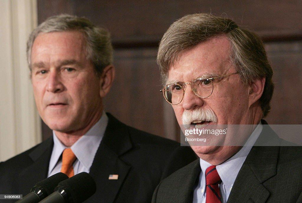 Resultado de imagen para John Bolton y presidente George W. Bush