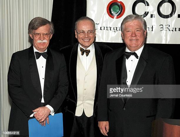 John Bolton US Ambassador to the United Nations Mel sachs and Haley Barbour Governer of Mississippi
