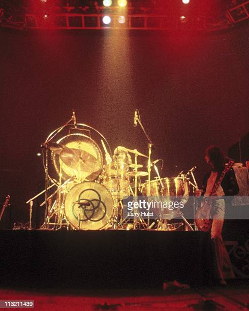 John Bonham and Led Zeppelin performs at the Sports Arena in San Diego California on March 14 1975
