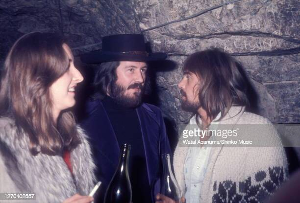 John Bonham of Led Zeppelin and Boz Burrell of Bad Company at a Swan Song Records party for the release of The Pretty Things' 'Silk Torpedo' album,...