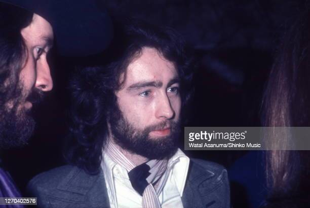 John Bonham of Led Zeppelin and Paul Rodgers of Bad Company at a Swan Song Records party for the release of The Pretty Things' 'Silk Torpedo' album,...