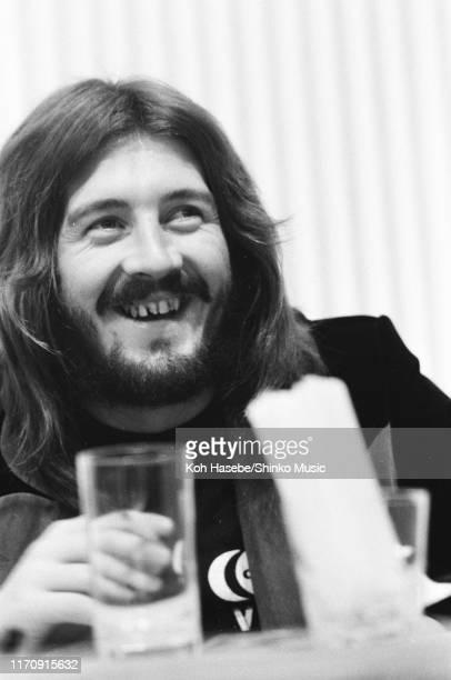 John Bonham of Led Zeppelin, press coference at Tokyo Hilton Hotel, Tokyo, Japan, 30th September 1972.