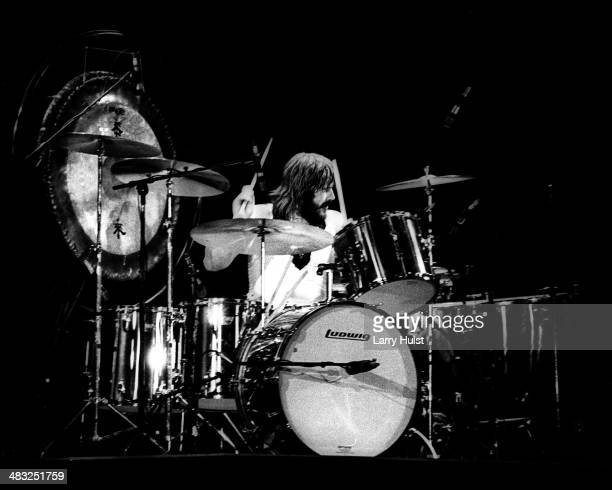 John Bonham performing with Led Zeppelin at the Forum in Los Angeles California on March 15 1975