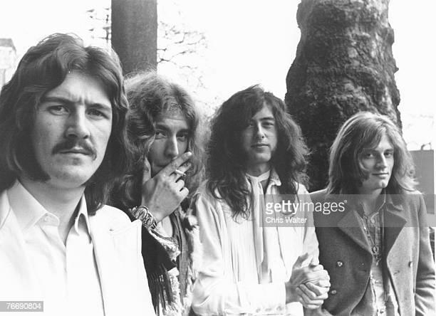 John Bonham Robert Plant Jimmy Page and John Paul Jones of Led Zeppelin