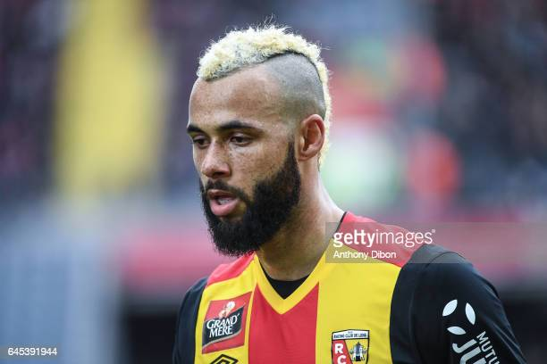 John Bostock of Lens during the French Ligue 2 match between Lens and Valenciennes at Stade BollaertDelelis on February 25 2017 in Lens France
