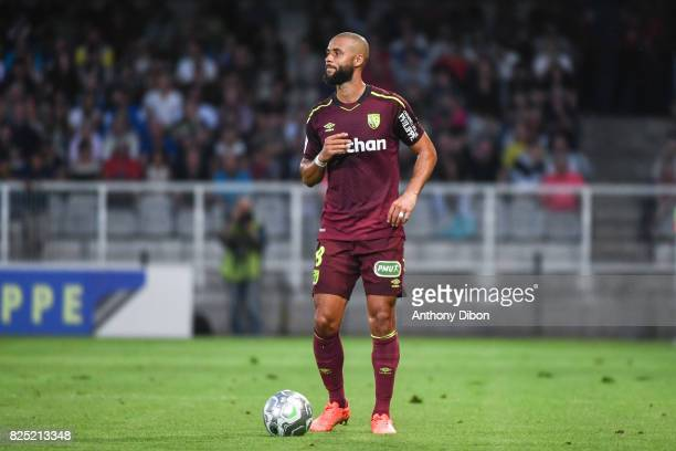 John Bostock of Lens during the French Ligue 2 match between match between Auxerre and Lens at Stade Abbe Deschamps on July 31 2017 in Auxerre France