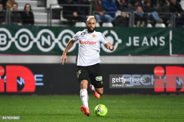 John Bostock of Lens during the French Ligue 2 match between Red Star and Lens at Stade Jean Bouin on March 3 2017 in Paris France