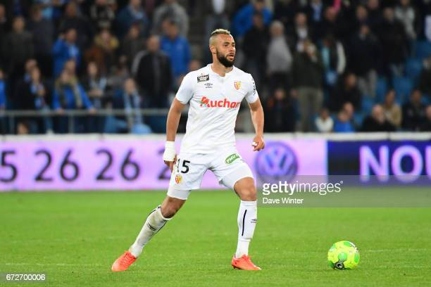 John Bostock of Lens during the Ligue 2 match between Le Havre AC and Racing Club de Lens on April 24 2017 in Le Havre France