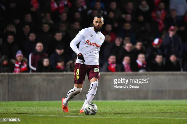 John Bostock of Lens during the Ligue 2 match between Nimes and Lens at Stade des Costieres on January 12 2018 in Nimes France
