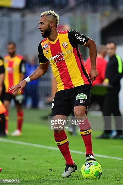 John Bostock of Lens during the Ligue 2 match between Racing Club de Lens and Tours FC at Stade BollaertDelelis on August 4 2016 in Lens France