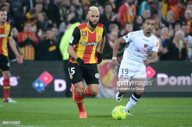 John Bostock of Lens during the Ligue 2 match between Racing Club de Lens and Clermont Foot at Stade BollaertDelelis on February 13 2017 in Lens...