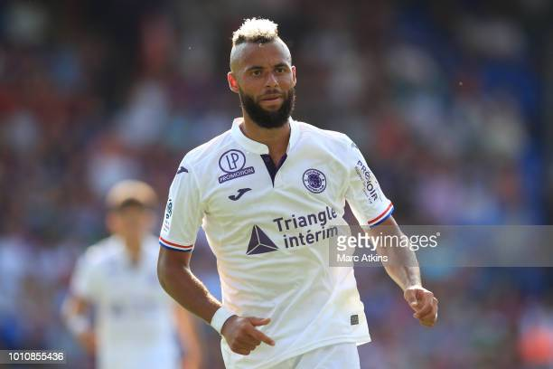 John Bostock of Toulouse during the PreSeason Friendly between Crystal Palace and Toulouse at Selhurst Park on August 4 2018 in London England
