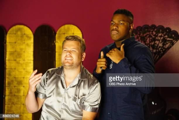 John Boyega and James Corden during 'The Late Late Show with James Corden' Tuesday August 8 2017 On The CBS Television Network