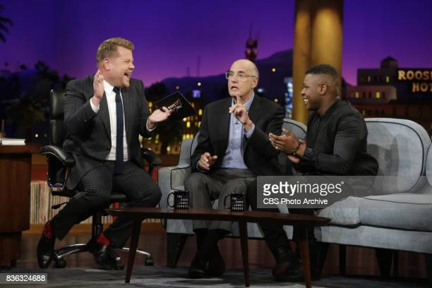 John Boyega and Jeffrey Tambor chat with James Corden during 'The Late Late Show with James Corden' Tuesday August 8 2017 On The CBS Television...