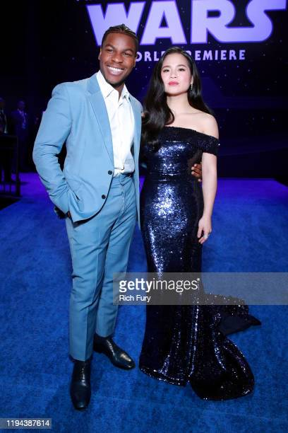 John Boyega and Kelly Marie Tran attend the Premiere of Disney's Star Wars The Rise Of Skywalker on December 16 2019 in Hollywood California