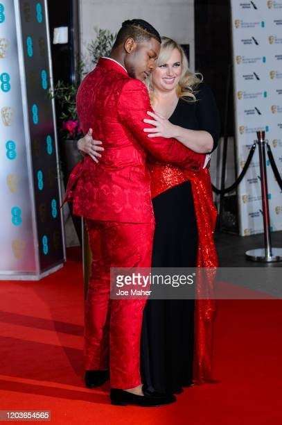 John Boyega and Rebel Wilson attend the EE British Academy Film Awards 2020 After Party at The Grosvenor House Hotel on February 02 2020 in London...