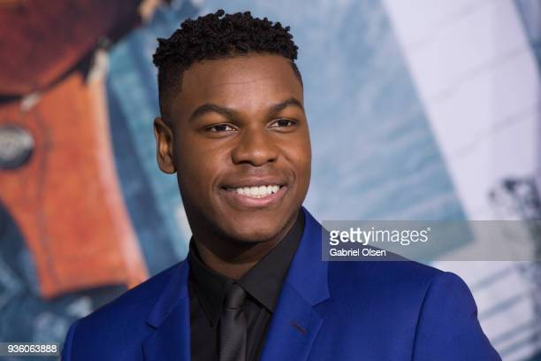John Boyega arrives at Universal's Pacific Rim Uprising premiere at TCL Chinese Theatre IMAX on March 21 2018 in Hollywood California