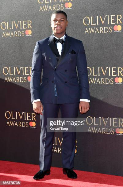 John Boyega arrives for The Olivier Awards 2017 at the Royal Albert Hall on April 9 2017 in London England