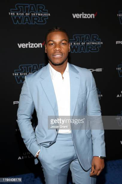 John Boyega arrives for the World Premiere of Star Wars The Rise of Skywalker the highly anticipated conclusion of the Skywalker saga on December 16...
