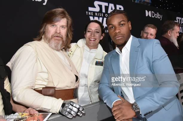"""John Boyega arrives for the World Premiere of """"Star Wars: The Rise of Skywalker"""", the highly anticipated conclusion of the Skywalker saga on December..."""