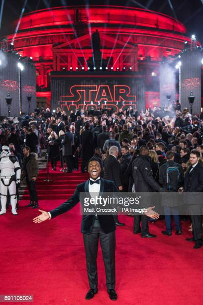 John Boyega attending the european premiere of Star Wars The Last Jedi held at The Royal Albert Hall London Picture date Tuesday December 12 2017 See...