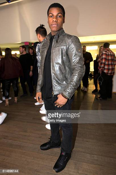 John Boyega attends a celebration of Reebok Classic Leather at Bankside London SE1 on March 10 2016 in London England