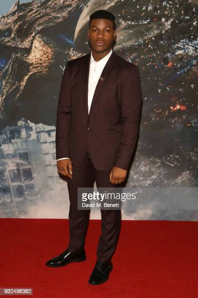 John Boyega attends a special screening of Pacific Rim Uprising at Vue West End on March 15 2018 in London England