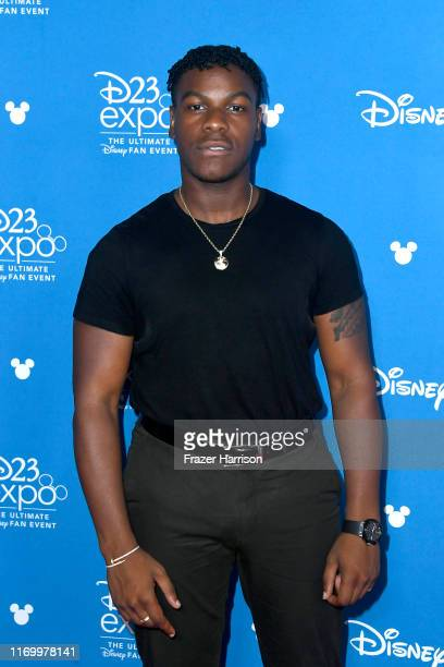 John Boyega attends Go Behind The Scenes with Walt Disney Studios during D23 Expo 2019 at Anaheim Convention Center on August 24 2019 in Anaheim...