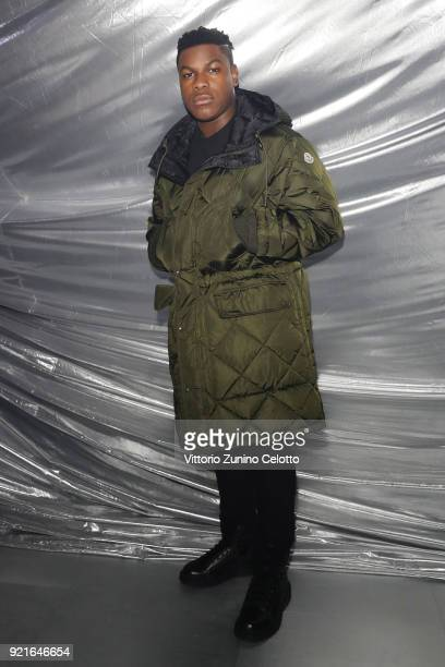 John Boyega attends Moncler Genius during Milan Fashion Week on February 20 2018 in Milan Italy
