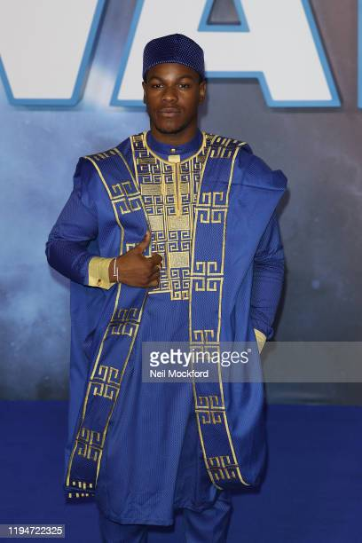 John Boyega attends Star Wars The Rise of Skywalker European Premiere at Cineworld Leicester Square on December 18 2019 in London England