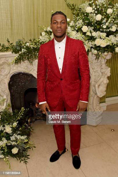 John Boyega attends the British Vogue and Tiffany Co Fashion and Film Party at Annabel's on February 2 2020 in London England